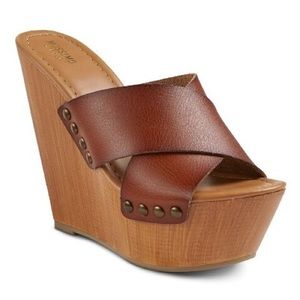 Mossimo Wedge Congnac Sandals